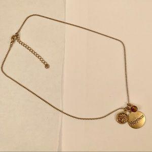 EUC Burnished Gold Necklace